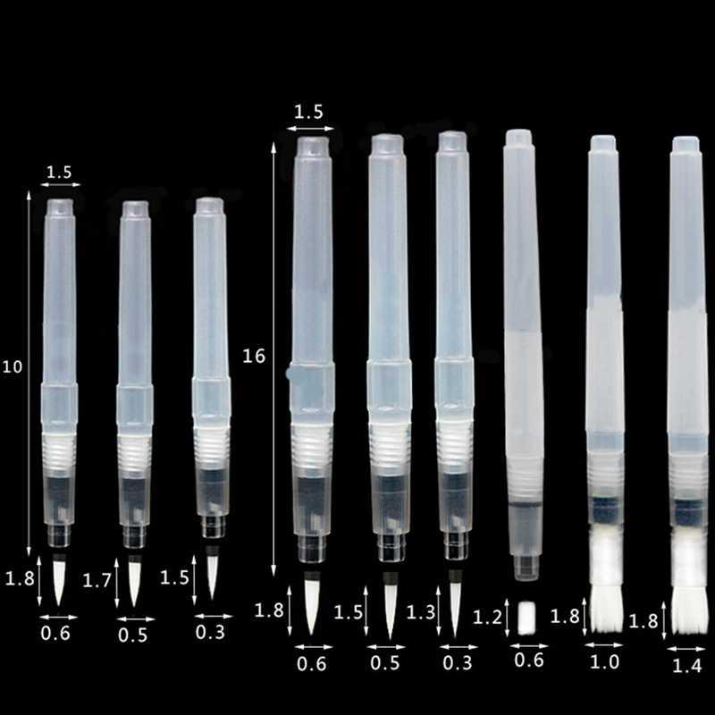 3 шт./компл. плоский/круглый наконечник водяная кисть акварельная картина с фонтаном ручка для самоувлажнения каллиграфии рисунок стационарный набор