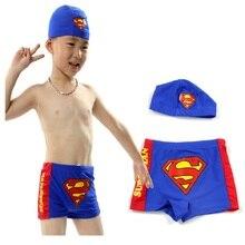 Superman Swim Trunks + Swimsuit Cap