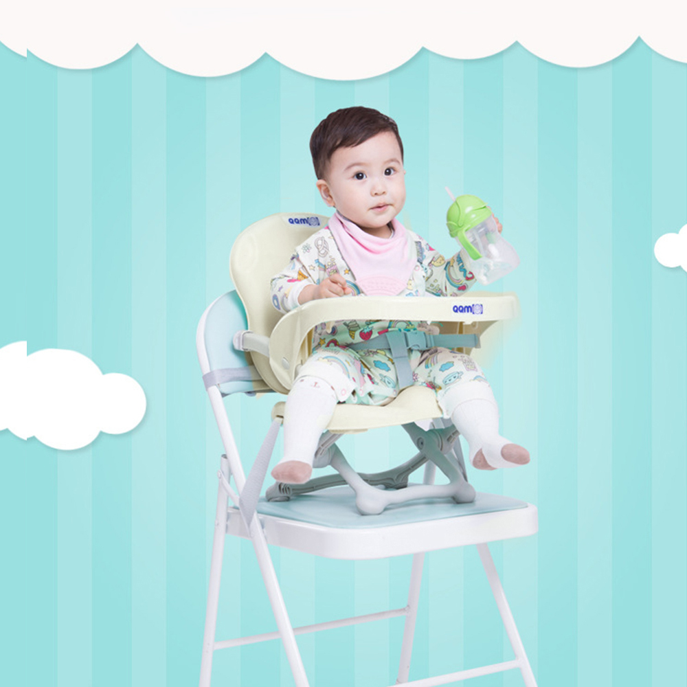 Portable Baby Dining Booster Seat Safety Belt Adjustable Highchair Folding Kids Dinner Chair Booster Seat Feeding Plate Table child dining chair baby chair feeding portable highchair high chair fold portable folding booster brand plastic adjustable baby