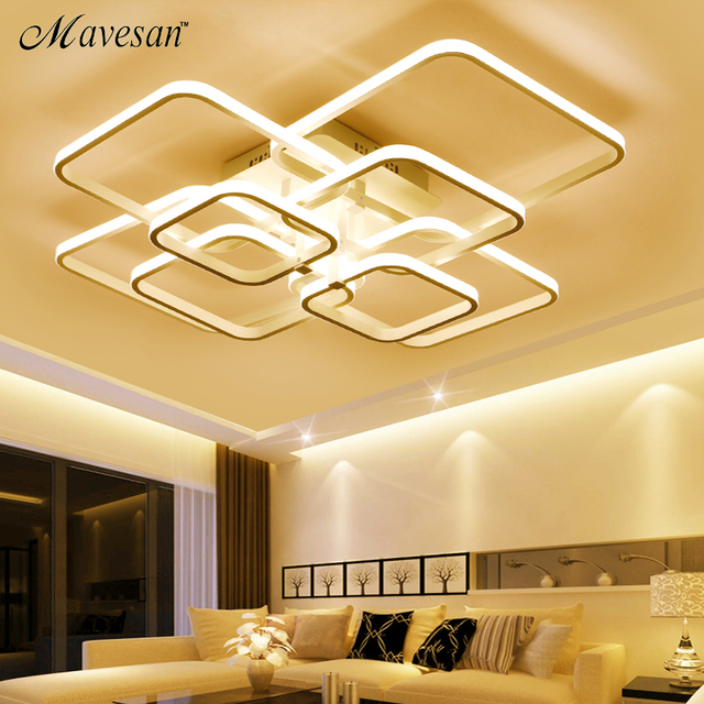 Aliexpress kup Ceiling Lights Square Rings For Living Room
