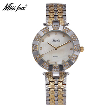 Luxury Brand Fashion Casual Ladies Gold Watch Quartz