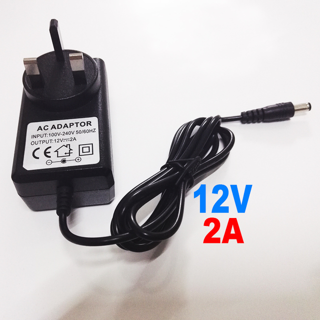 UK Type Adapter DC 12V 2A CCTV Security Camera Power Supply UK Plug Power Adapter application for ip camera and Analog camera