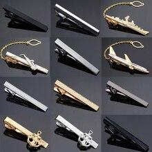 DY Yeni ve yüksek kaliteli lazer gravür kravat klip moda stil altın gümüş ve siyah erkek iş kravat iğnesi Ücretsiz teslimat