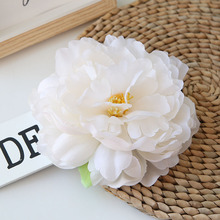 15cm Large Fake Peony Flower Silk Heads Artificial Flowers For Wedding Home Decoration High Quality White 5pcs