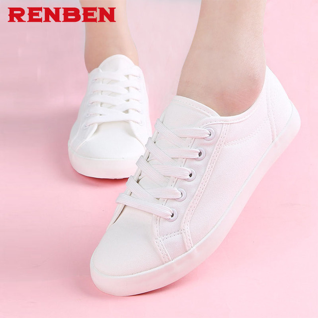 2018 New white canvas shoes female spring and summer white shoes women casual shoes students