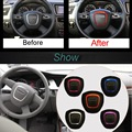 1 PCS DIY Car styling Aluminum Modified Steering Wheel Decorative Circle Bright Cover Case stickers For AUDI A3 A4 A5 A6L Q3Q5Q7