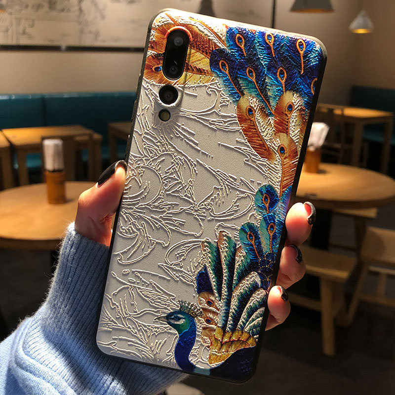 Voor Huawei P30 P20 Honor 9X 8X Note 10 Nova 5 3i 2i 3 2 Plus 2S Mate 20X20 10 9 Pro Lite Case 3D Relief Tekening Soft Cover