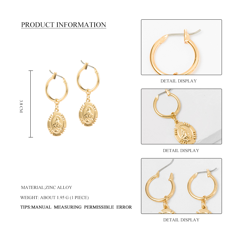 Wild Free Gold Alloy Small Round Hoop Earrings For Women Girl Geometric Disc Huggies Charm Earring Jewelry 2019 New Gift in Hoop Earrings from Jewelry Accessories
