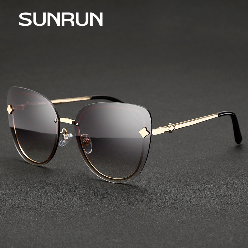 Rimless Glasses Trend : ?SUNRUN 2017 New ? Cat Cat Eye Women Sunglasses Brand ...