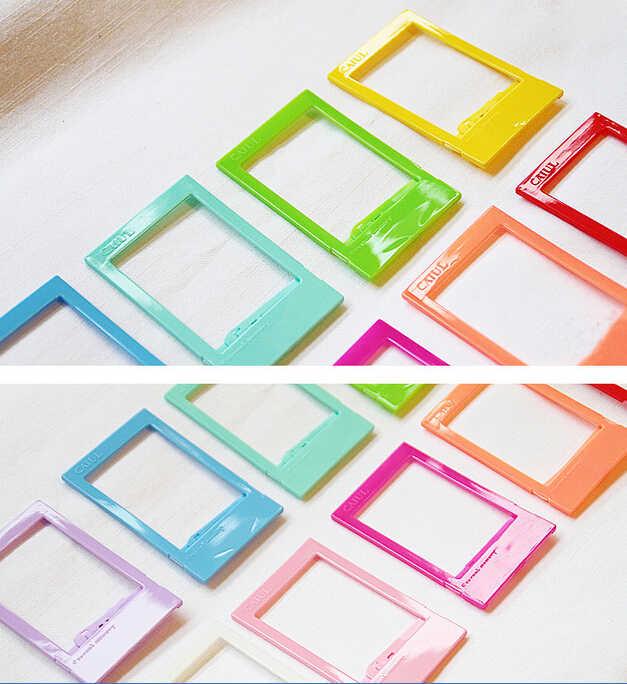 10 sztuk/partia rainbow kolorowe ramki do zdjęć mini ramki do zdjęć foto 3 cal FUJI instax dekoracje ślubne wystrój domu mody dodać
