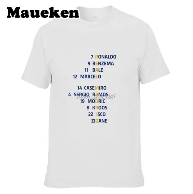 3b11daa5b8527 Hombres 16 17 Campeón de La Liga España Crucigrama Camiseta Modric Ramos  Asensio Ronaldo kroos