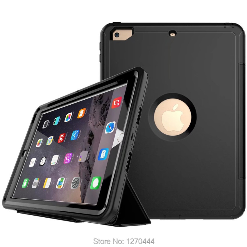 360 Full protector for apple ipad 9.7 2017/2018 Kids skin Safe Shockproof Heavy Duty PC Hard Cover kickstand model A1823 A1893