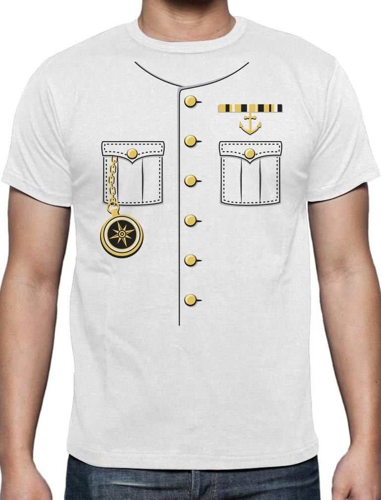 T shirt short sleeve brand ship captain halloween costume for Costume t shirts online