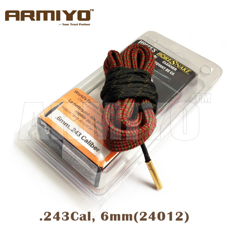Armiyo Bore Snake 6mm .243 Cal Gun Barrel Cleaner Rifle Bore Cleaning Sling 24012 Shooting Clean Accessories