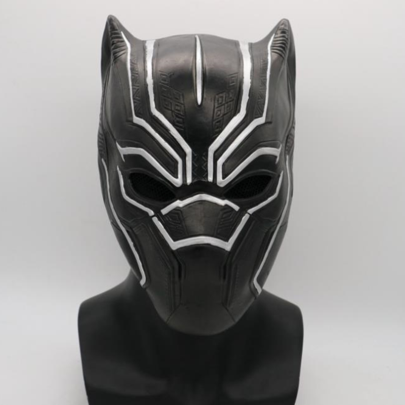 Black Panther Masks Cosplay Latex Costumes Movie Fantastic  Men's Party Mask New