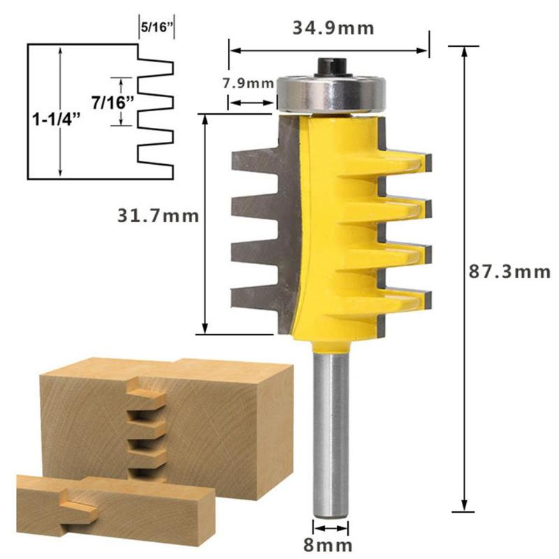 8mm Shank T Type Router Bit Wood Working Milling Cutter Woodworking Accessories