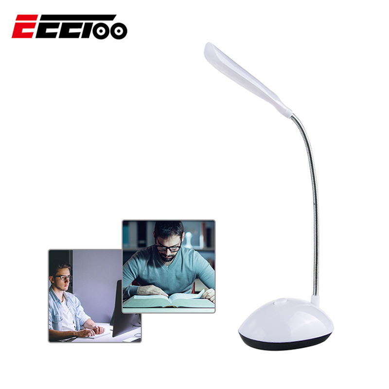 Battery Power Night Light LED 360° Rotating Table Read Desk Light Lamp ##