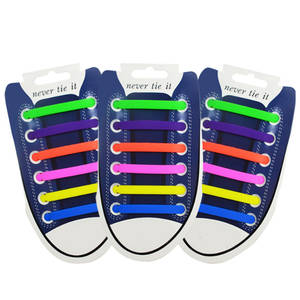 Shoe Lace Athletic All-Sneakers Running Silicone Fit-Strap No-Tie 13-Colors New Adult