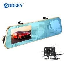 ADDKEY dash cam, зеркало, dash cam era, двойная камера, объектив, Автомобильный видеорегистратор с двумя камерами, зеркало заднего вида, dashcam full hd 1080 P, видео рекордер