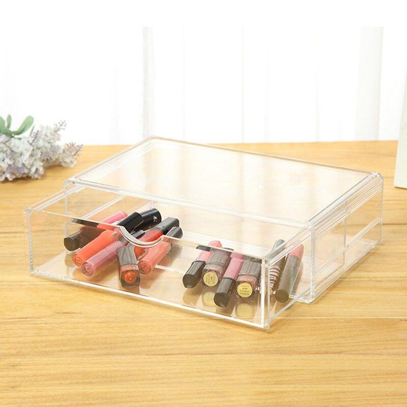 Make Up Organizer Holder Makeup Tools Nail Polish Box Case Clear Plastic Cosmetic Organizer Acrylic Drawer