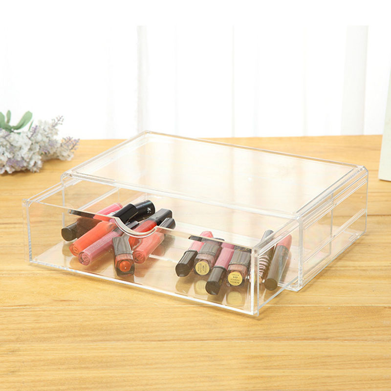 Make Up Organizer Holder Makeup Tools Nail Polish Box Case Clear Plastic  Cosmetic Organizer Acrylic Drawer Jewelry Part 66