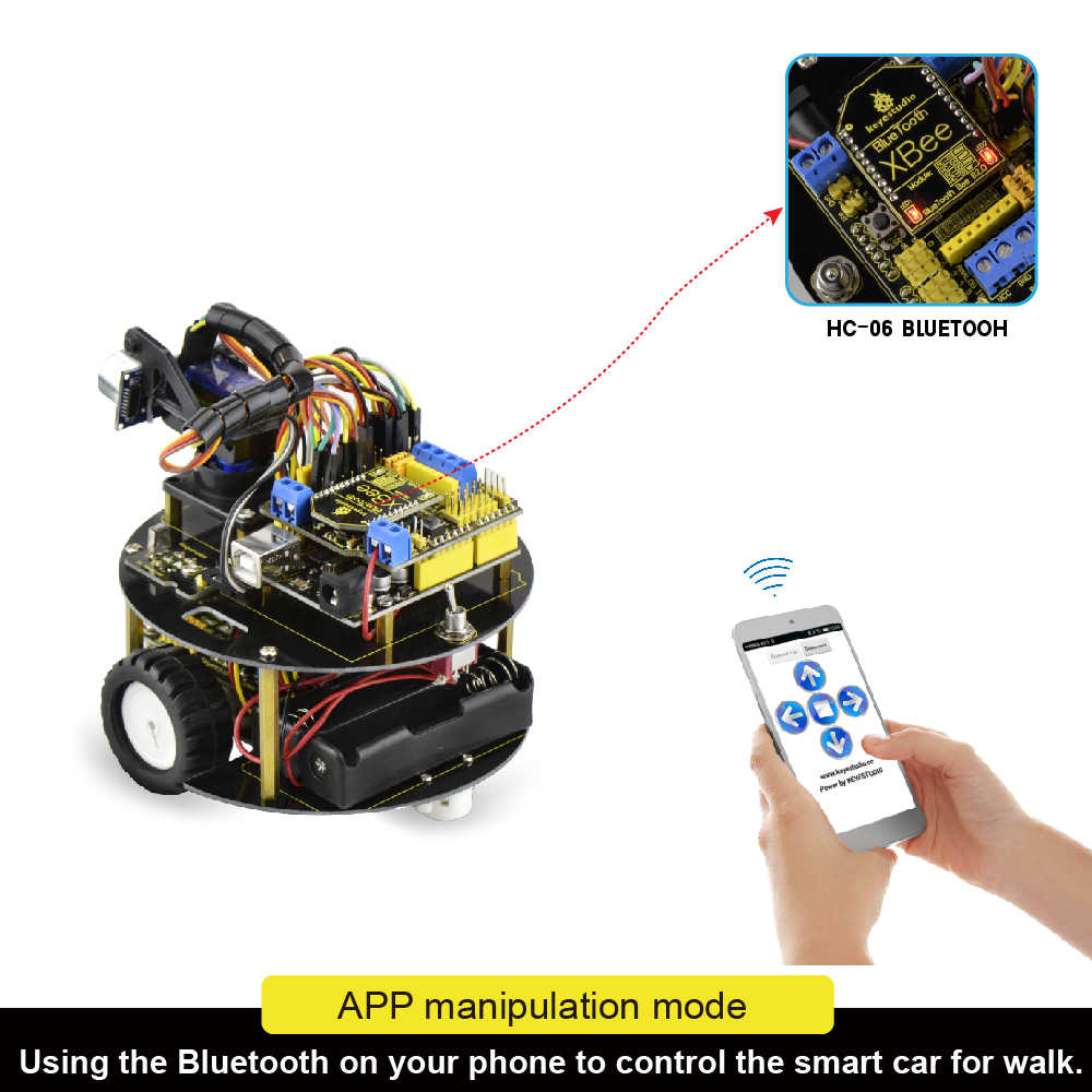 keyestudio smart small turtle Robot car/Smart car for Arduino Robot  Education Programming+manual+PDF(online)+7 Projects+Video