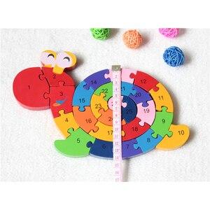 Image 3 - Nuovi Giocattoli Educativi Cervello Gioco Per Bambini di Avvolgimento Lumaca Figura Giocattoli di Legno Per Bambini In Legno 3D Puzzle Di Legno Brinquedo Madeira di Puzzle Per Bambini