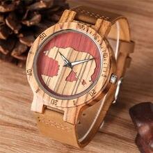 Casual Wood Watch Quartz Three-dimensional Polar Bear Dial Luminous Hands Stylish Wooden Watches Bamboo Ebony Clock Male reloj цена