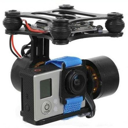 DJI Phantom Brushless gimbal Camera Mount Kit w/ 2208 70T Motors for Gopro 3 Quadcopter FPV