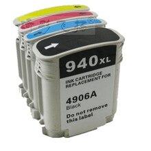 4pcs / set Compatible ink cartridges For HP 940bk 940c 940m 940y C4906A C4907A C4908A C4909A  HP Officejet Pro 8000 8500 printer