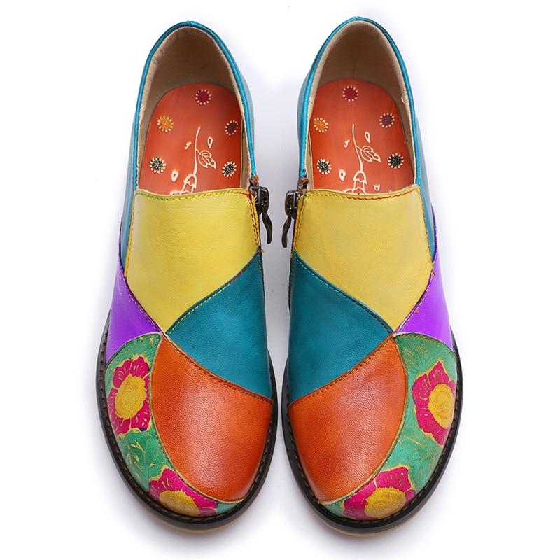 Zapatos Buono Bombas Multiple 2019 De Impreso Solo Patchwork Casuales Tacones Scarpe Flores Calado Mujer Retro 5rqTx5Owg