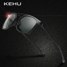 ФОТО kehu men square polarized sunglasses brand polarized eyeglasses men black cool travel sun glasses high quality  eyewear k9661