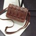 Fashion Women Bag Weave PU Leather Handbags Women Messenger Bags Vintage Small Bolsa Feminina Flap Bag for Gift