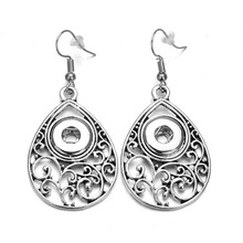Xinnver Snap Jewelry Metal Snap Drop Earrings Vintage Hollow Out Ethnic Fit 12mm Snap Buttons For Watches Women