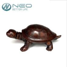 "NEO 9.5CM(3.7"") Antique Brass Mini Tortoise Figurine Retro Turtle Statue Feng Shui Animal Sculpture Home Office Ornaments Decor"