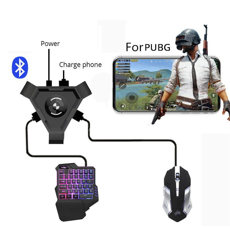 For PUBG Mobile Gamepad Controller Gaming Keyboard Mouse Converter For Android Phone To PC Bluetooth Adapter R20
