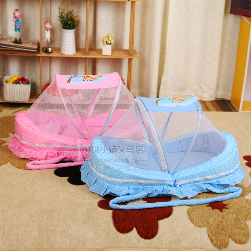 Hot Sale Baby Mosquito Net Bed Net Can Cotton-padded Mattress Pillow Tent Foldable Portable baby bed canopy without bottom portable folding baby bed mosquito net children mosquito tent 65 115cm kids outdoor camping tent