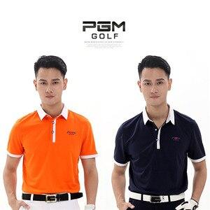 Durable PGM Brand Outdoor Sport Polo Quick Dry Short Glof Shirt Men T-shirt Breathable Cotton Golf Short Sleeve Shirts 3 Colors