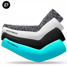 Rockbros Cycling Arm Sleeve Anti-UV Breathable Lycra Elastic Cycling Armwarmers Bike Bicycle Arm Sleeves Manguitos Ciclismo