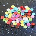 Estone 100pcs 10mm Mixed Color Round Shape Resin Buttons Sewing shoes accessories Hot