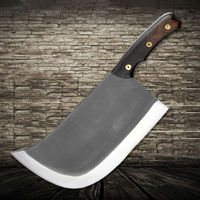 XITUO Black Handmade Forged Chef Knife Professional Butcher Cleaver Beef Hammer Broad Axe Kitchen Knife Slicing Chopping Tools