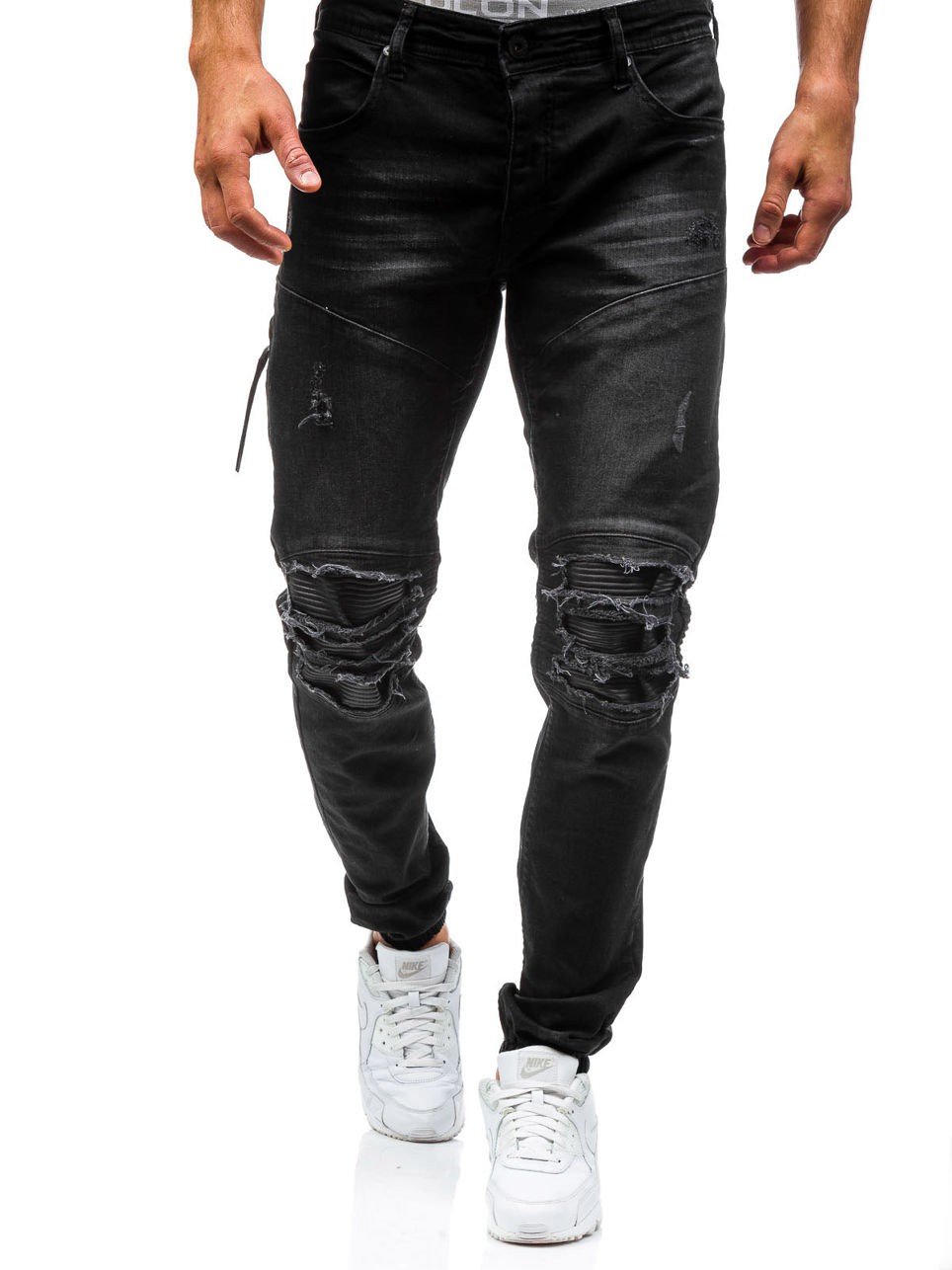 Brand Male New Jeans Fashion 2017 Slim Beggar Hole Jeans Men Casual Pants Man Trousers Designer Mens Jeans hot new arrival mens jeans white hole jeans beggar style pants male taper straight slim high quality men pants plus size mb324