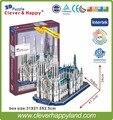 117 шт. 3D бумаги головоломки собор святого патрика, игра-головоломка образовательные для детей различных стилей горячий продавать