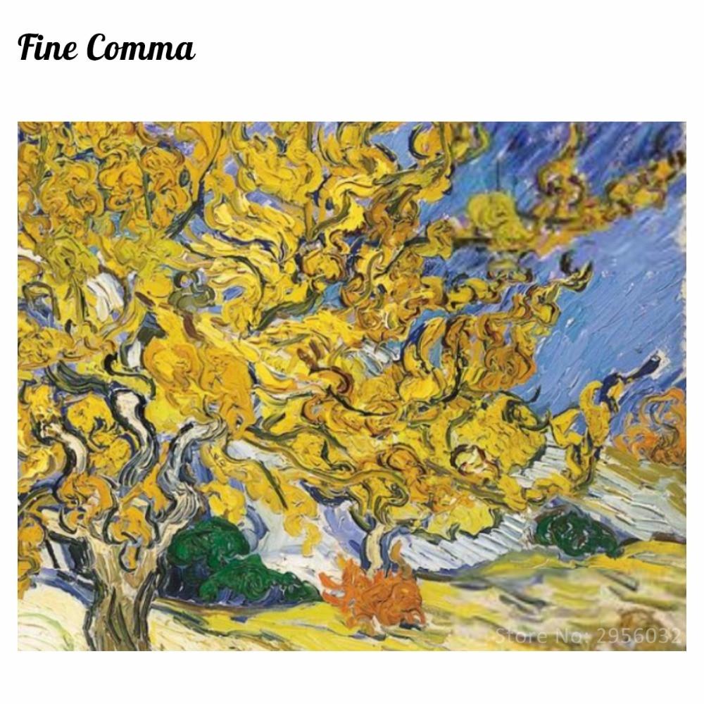 pohon mulberry 1889 by vincent van gogh replica tangan dicat