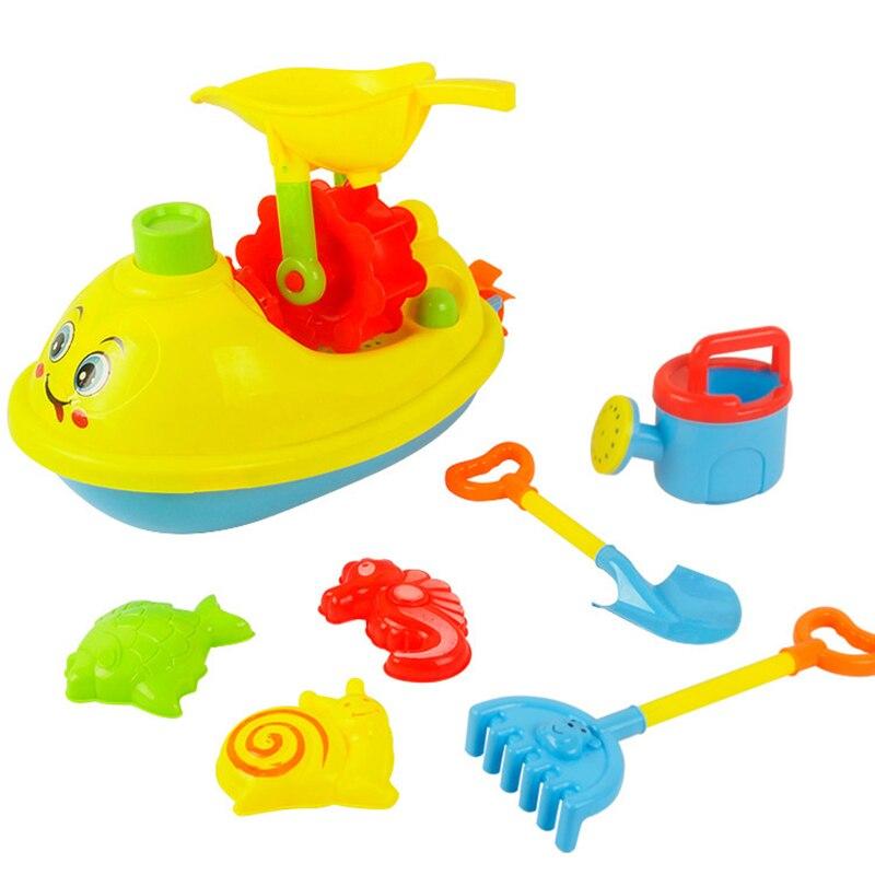 6pcs Kid Outdoor Beach Sand Tools Toys Bucket Shovel Set Baby Play sand Toys PE