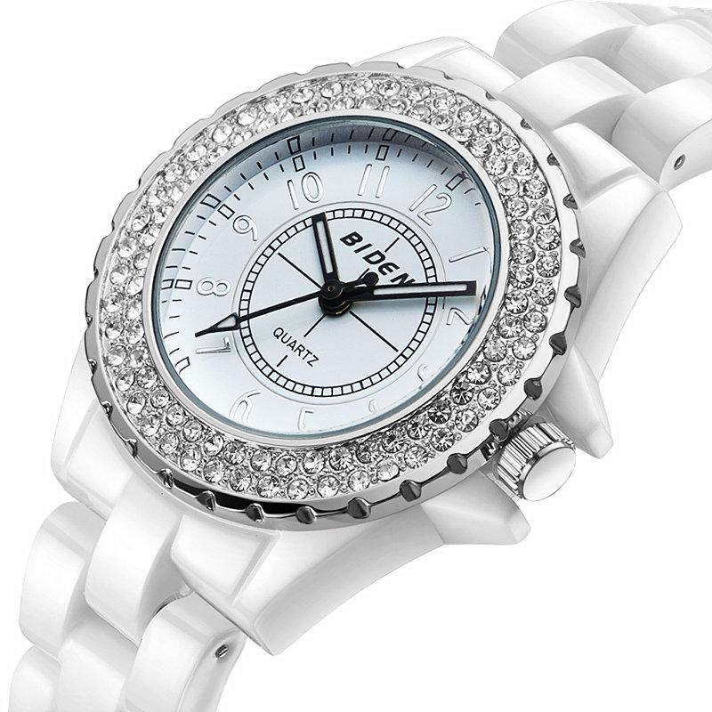Prix pour Montre Femmes marque de luxe de quartz de Mode en céramique montres Dame relojes mujer femmes montres Fille Robe horloge Relogio feminino
