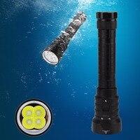 8000LM 4x XML L2 LED Waterproof Scuba Diving 100m Flashlight Lamp Torch Dive No Batteries