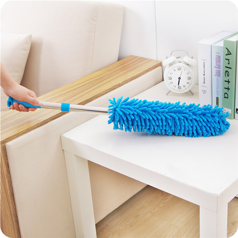 1pc Household Telescopic Chenille Lengthen Scalable Dusters Car Home Scalable Cleaning Dusting Tools Dust Brush Feather Duster