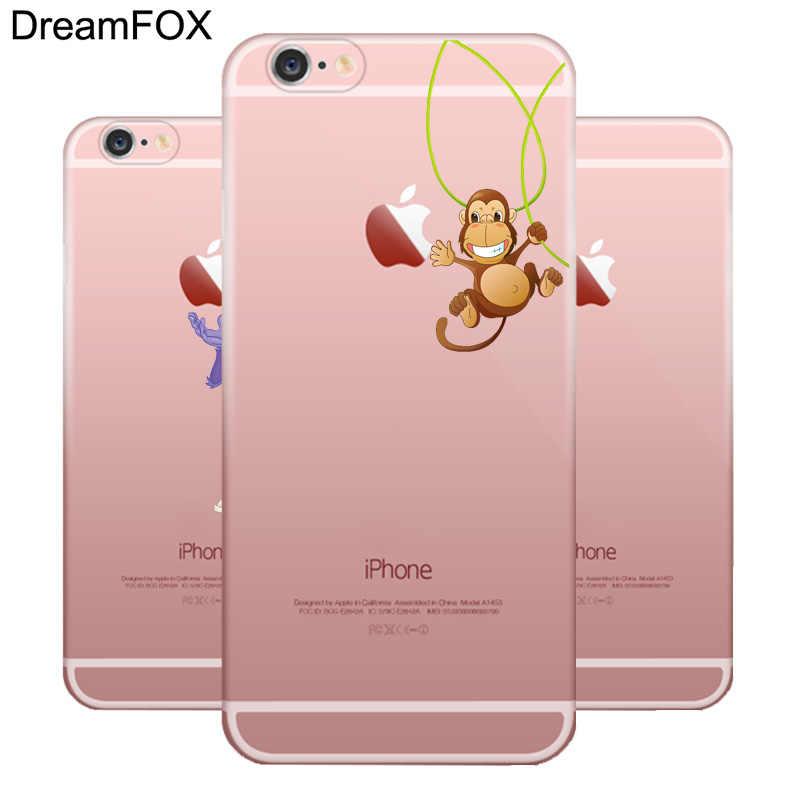 DREAMFOX M205 в виде симпатичной обезьянки Нижнее белье Мягкий ТПУ силиконовый чехол-накладка для Apple IPhone X XR XS Max 8, 7, 6, 6 S, Plus, 5, 5S SE 5C 4 4S