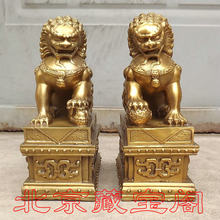 The copper lion lion on a brass foundry palace copper lions defends Wang rights to help transport block away from disaster(China)